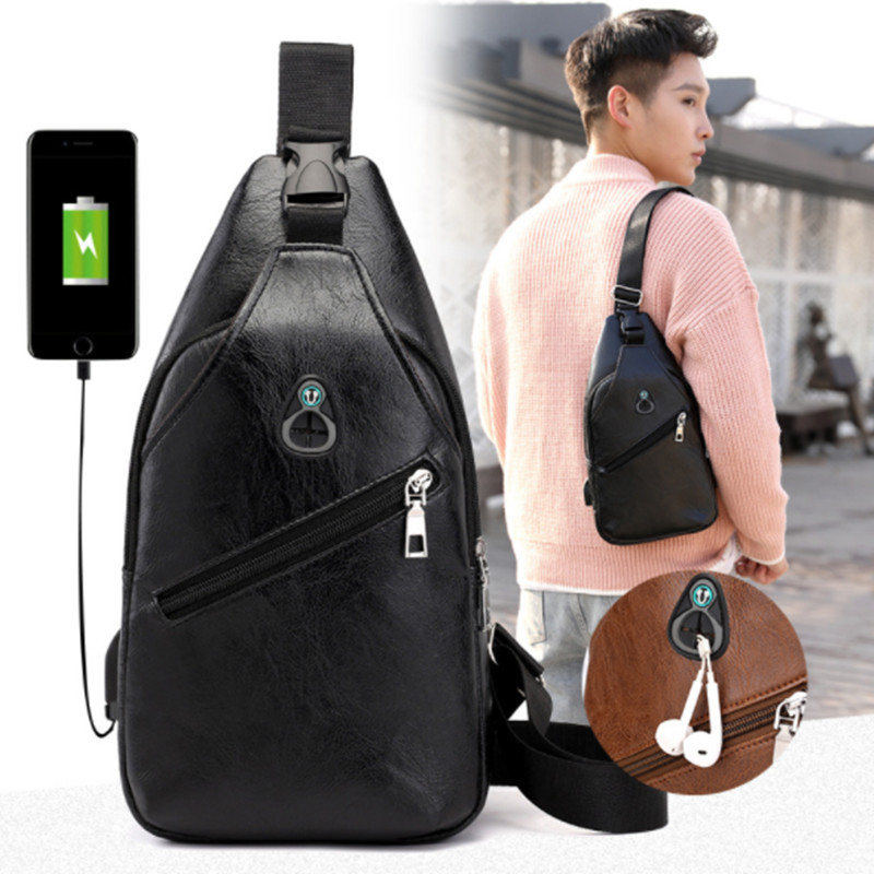 Men's Crossbody Bags with USB charger