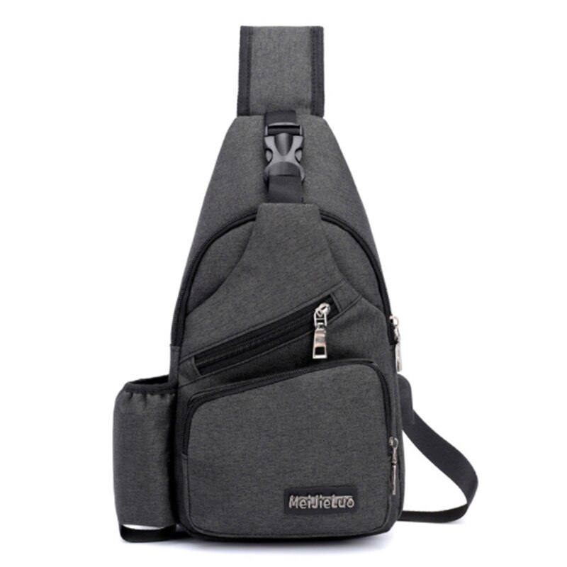 Unisex External USB Charge Chest Bags Male Men Chest Waist Pack Antitheft Travel Crossbody Bags For Men Sling Shoulder Bag